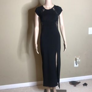 Dresses & Skirts - Long Black Dress With A Front Split Size Small